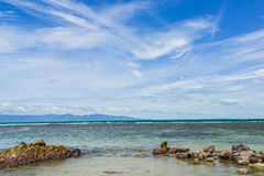 Sky and sea. Clear blue sky with cloud and sea in a shiny day Royalty Free Stock Images