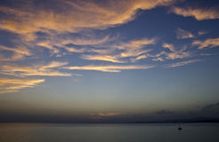 Sky and sea. Clouds over the Aegean sea, Sithonia, Halkidiki, Greece Stock Photography