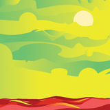 Sky and sea green. Vector stock illustration
