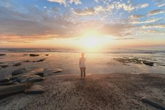 Sky, Sea, Horizon, Sunrise Royalty Free Stock Photos