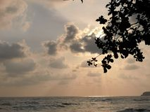 Sky and Sea in Koh Chang Thailand royalty free stock photography