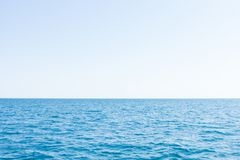 Sky and sea ocean in the afternoon. stock photography