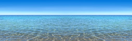 Sky and sea, panorama, excellent image quality Stock Image