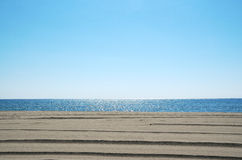 Sky, sea and sand Royalty Free Stock Images