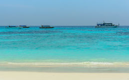 Sky Sea Sand at Tachai Island. Thailand royalty free stock photography