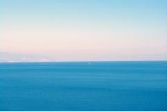 Between sky and sea. Skyline in Aegean sea, Greece Royalty Free Stock Photos