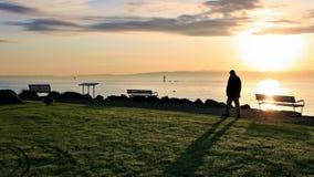 Sky, Sea, Sunrise, Horizon stock image