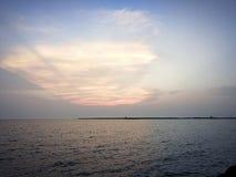 sky and sea view at bangkok thailand stock image