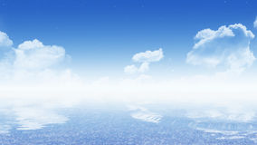 Sky with sea (16:9 wallpaper) royalty free stock image
