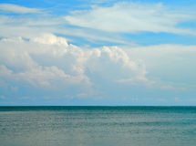 Sky and sea water Stock Photography