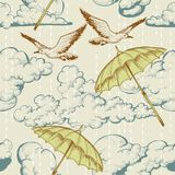 Sky seamless pattern vector illustration