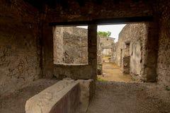 Pompei room stock photography