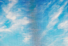 Sky seen through net Stock Photo