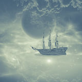 Sky ship Royalty Free Stock Images