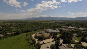 Sky shot of flatirons. Sunny afternoon shot from Royalty Free Stock Photo