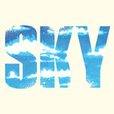 Sky sign Royalty Free Stock Photography