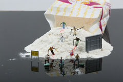 Sky slope, miniature Stock Photos