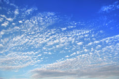 Sky with small clouds Royalty Free Stock Photography