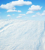 Sky and snow Royalty Free Stock Photo