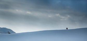 Sky and snow Stock Photos