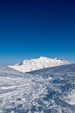 Sky and snow at Campo Imperatore Royalty Free Stock Image