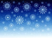 Sky and snowflakes Stock Photo