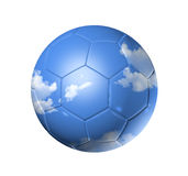 Sky on a soccer football ball Royalty Free Stock Image