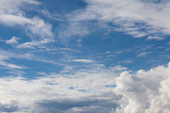 Sky with soft clouds. Sky background with soft clouds Stock Photos