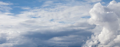Sky with soft clouds. Sky background with soft clouds Stock Images