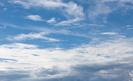 Sky with soft clouds. Sky background with soft clouds Stock Photography