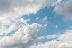 Sky. Soft white clouds in blue sky Royalty Free Stock Photo