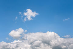 Sky. Space blue sky with colorful cloud Stock Image