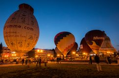 Sky of St. Sergius festival of the hot air balloons. Stock Photography