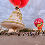 Sky of St. Sergius festival of the hot air balloons. Stock Photo