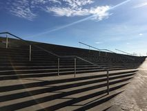 Sky, stairways and sun Stock Image