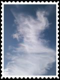 Sky stamp real royalty free stock photography