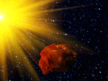 Sky   star  asteroid Stock Images