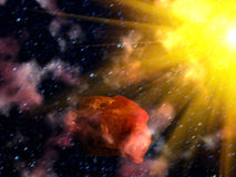 Sky   star  asteroid Royalty Free Stock Photo