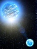 Sky stars Earth moon royalty free illustration