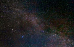Sky with stars at night Royalty Free Stock Photography