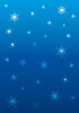 Sky with stars or snowflakes Royalty Free Stock Photos