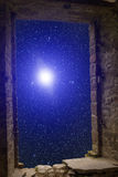 Constellations supernova ancient window Royalty Free Stock Photos