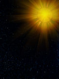 Sky  stars  sun  constellation Stock Photography