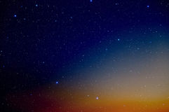 Sky and stars. Royalty Free Stock Images