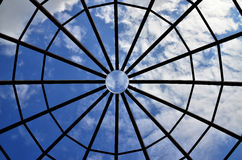 Sky between a steel structure Stock Photography