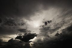 The sky before the storm.  Stock Photos