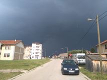 Sky. Storm sky in Bosnia Royalty Free Stock Photos