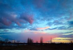 Sky after the storm Royalty Free Stock Photography
