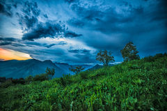 Sky after storm. In the mountain of italy Royalty Free Stock Photo