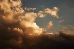 Sky with stormy clouds Royalty Free Stock Images